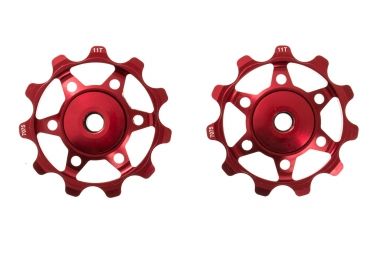 NEATT Jockey Wheels - 11 teeth Red
