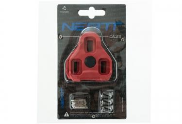 neatt paire de cales pour look keo 9 rouge