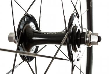 gipiemme paire de roues pista k28 noir boyaux