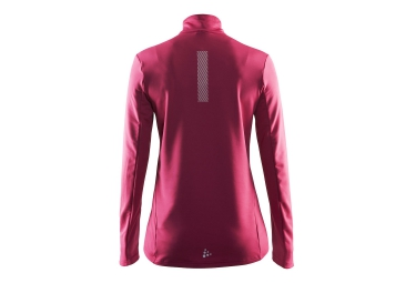 CRAFT Maillot Manches Longues FACILE Demi-Zip Ruby Crush Femme