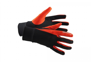 CRAFT Paire de Gants THERMAL Noir Cayenne