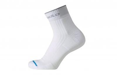 Odlo paire de chaussettes running courtes blanc 36 38
