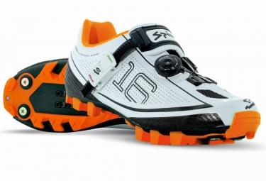 chaussures vtt spiuk 16m 2016 blanc orange 40