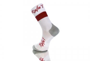 paire de chaussette rafa l carbone celeste 2 blanc rouge 35 38
