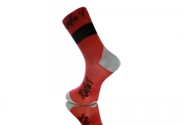 Paire de chaussette RAFA´L Carbone Celeste 2 Rouge Noir
