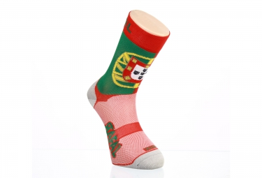 Paire de chaussette RAFA'L Carbone Selection Portugal Vert Rouge
