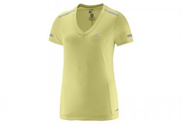 Salomon tee shirt femme park jaune l