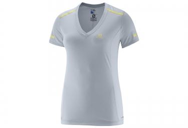 SALOMON T-Shirt Femme PARK Bleu