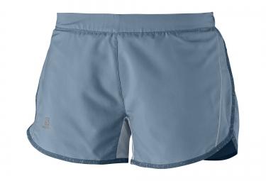 salomon shorts femme agile bleu m