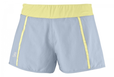 Salomon shorts femme park 2in1 gris jaune l