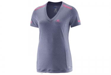 salomon tee shirt femme park gris rose m