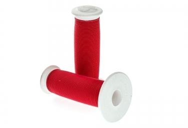 ODI Mushroom II Grips Red White