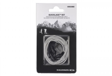 salomon lacets quicklace kit gris