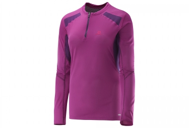 salomon tee shirt femme fast wing violet xs