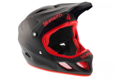 casque integral bluegrass explicit noir rouge xl 60 62 cm