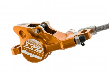HOPE Tech 3 X2 Front No Rotor Orange BRAIDED  L/H