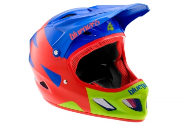 casque integral bluegrass explicit bleu rouge vert m 56 58 cm