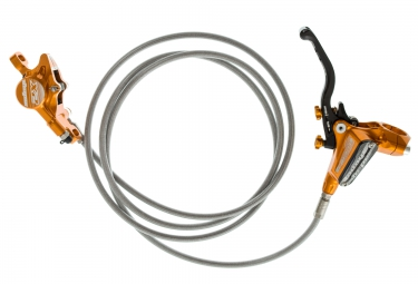 HOPE Rear Break Tech 3 X2 Orange braided hose - Without rotor