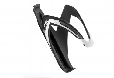 ELITE CUSTOM RACE Bottle Cage Black White Mat