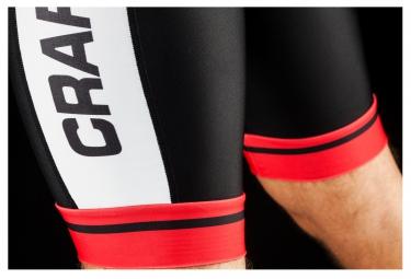 CRAFT Cuissard CLASSIC Logo Noir Rouge Blanc