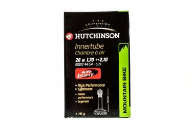 Hutchinson Chambre à air Butyl Airlight 26*1.70 à 2.10 Schrader Grosse Valve (à l'unité)