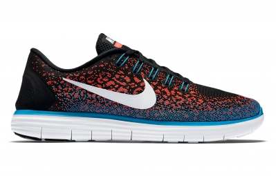 nike free run distance noir orange bleu homme 42