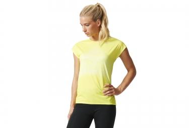 adidas t shirt femme adizero climacool jaune xs