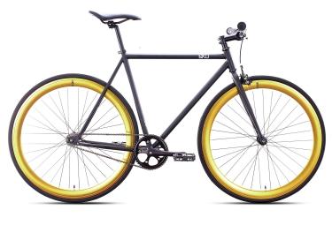 6KU Vélo Complet Fixie NEBULA 2 Noir Or