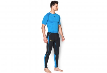UNDER ARMOUR Collants Longs de Compression HEATGEAR ARMOURVENT Noir Bleu
