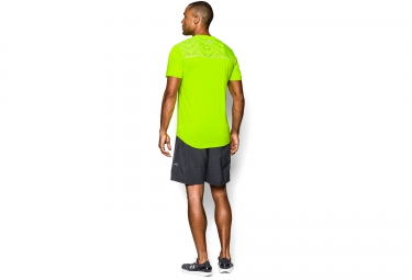 UNDER ARMOUR Maillot Manches Courtes RUN Jaune