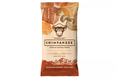 CHIMPANZEE Barre 100% naturelle Noix de Cajou Caramel SANS GLUTEN