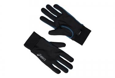 ASICS Gants BASIC Noir Bleu