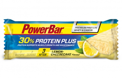powerbar barre protein plus 30 55gr citron cheesecake