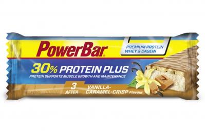 POWERBAR Barre Protéinée 30% PROTEIN PLUS 55gr Vanille Caramel Crisp
