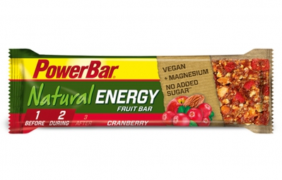 powerbar barre natural energy fruit 40gr cranberry