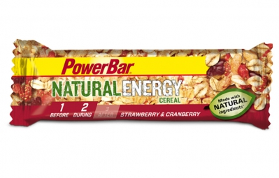 powerbar barre natural energy cereal 40gr fraise cranberry