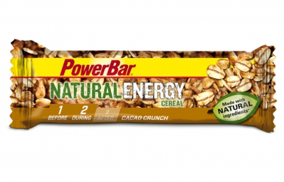 powerbar barre natural energy cereal 40gr cacao crunch