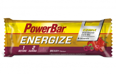 Barre Energétique Powerbar Energize C2Max 55gr Fruit Rouge