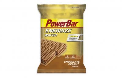 POWERBAR Barre énergétique ENERGIZE WAFER Goût Fruits Chocolat Cacahuètes