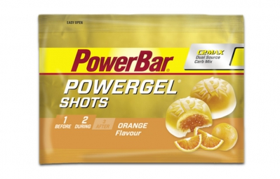 powerbar gommes powergel shots 60gr orange
