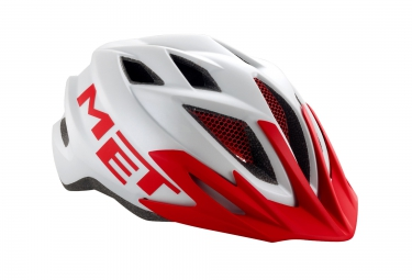 MET 2016 Casque CRACKERJACK Blanc Rouge TU