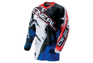 oneal maillot element shocker noir bleu rouge l