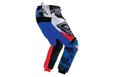 oneal 2016 pantalon element shocker noir bleu rouge 30