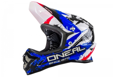 casque integral oneal backflip fidlock dh rl2 shocker noir bleu rouge xl 61 62 cm