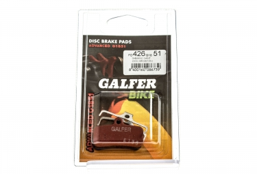 GALFER Plaquettes SHIMANO SAINT/ ZEE Métallique ADVANCED G1851