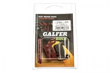 GALFER Plaquettes SHIMANO DEORE/XT/LX/SAINT/XTR Métallique ADVANCED G1851