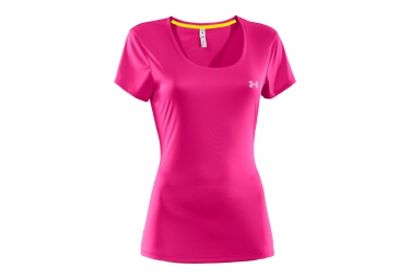 under armour maillot manches courtes flyweight rose femme s