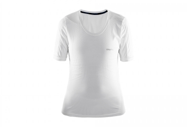 Craft maillot manches courtes stay cool blanc femme xs s