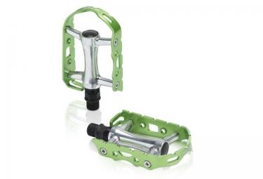 Xlc pedales ultralight v pd m15 alu argent vert