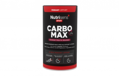 Nutrisens boisson energetique carbo max pot de 750g fruits rouges